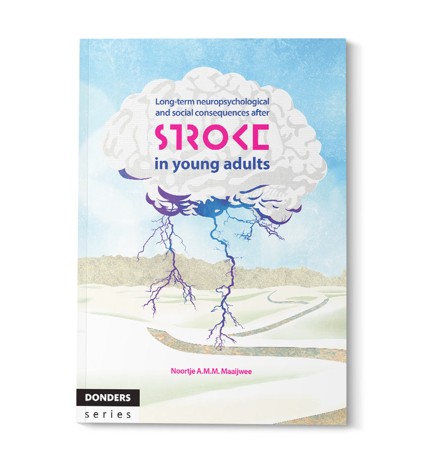 thesis cover design for Noortje Maaijwee Stroke in young adults - isontwerp.nl