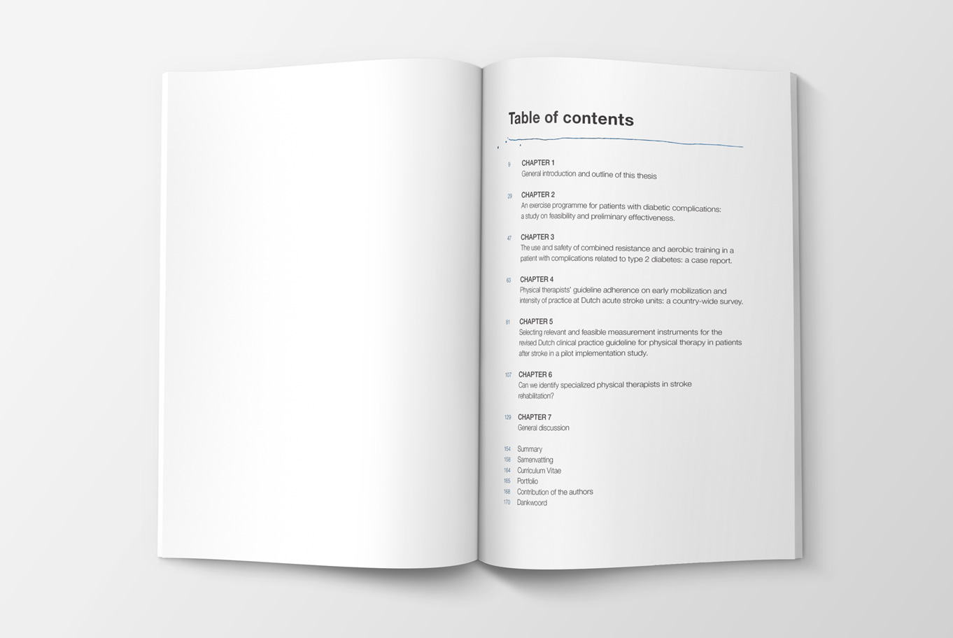 Nicoline Otterman Table of contents