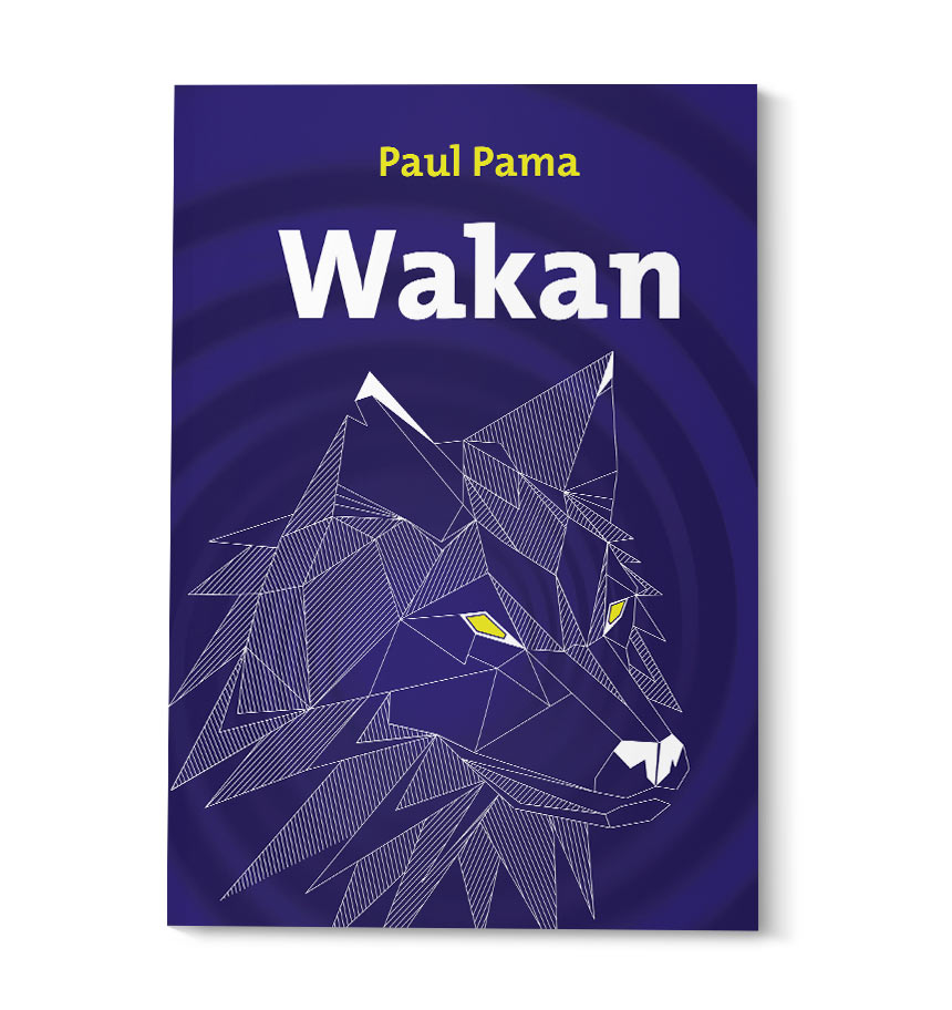 book cover design illustration and layout for Wakan - Paul Pama - isontwerp.nl